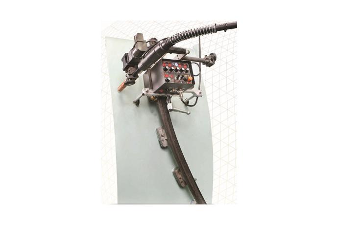 Butt/Fillet Weaving welder with Flexible Rubber Rail