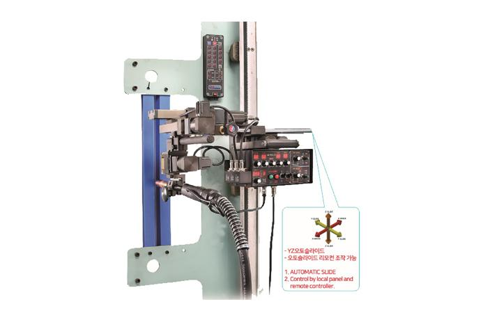 Butt/Fillet Weaving welder with Automatic Slide Magnet On-OFF switch