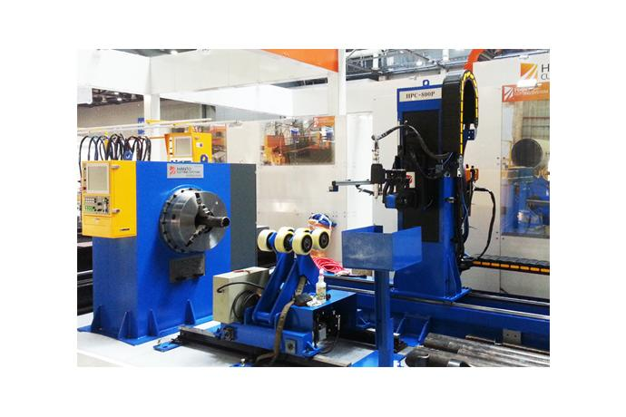 CNC Pipe Cutting Machine (Chuck type - Roller Support)