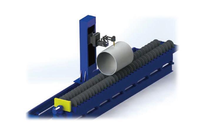 대형 롤러타입 파이프 절단기 (Roller type - Roller Support)