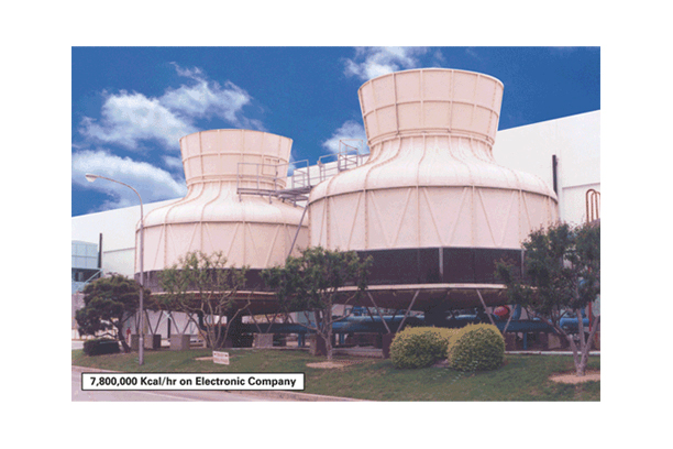 F.R.P ROUND TYPE COOLING TOWER