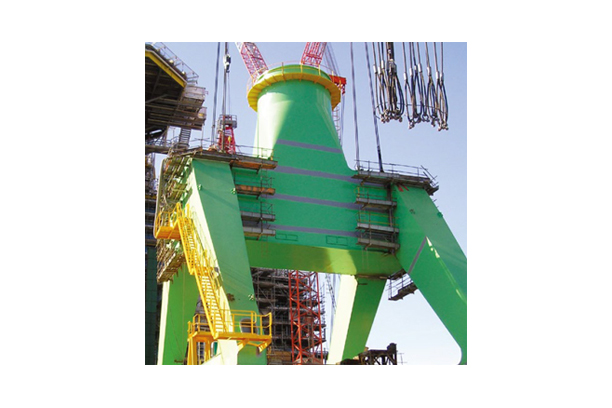 POTAL STRUCTURE FOR LEVEL LUFFING CRANE