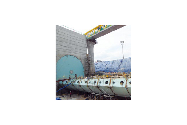RISING SECTOR GATE FOR WATER POWER GENERATION