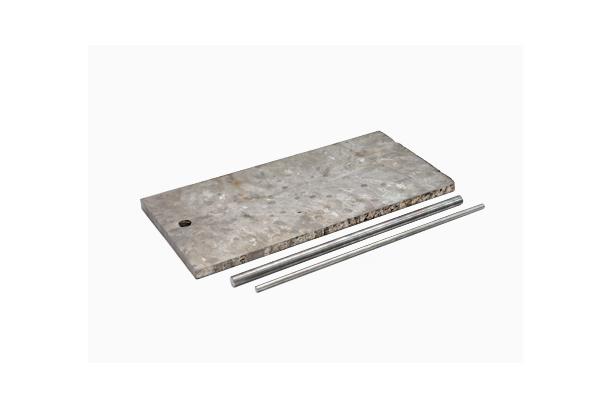 Titanium plate and rod