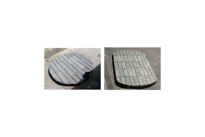 Crinkled Wire Mesh Type Separation System