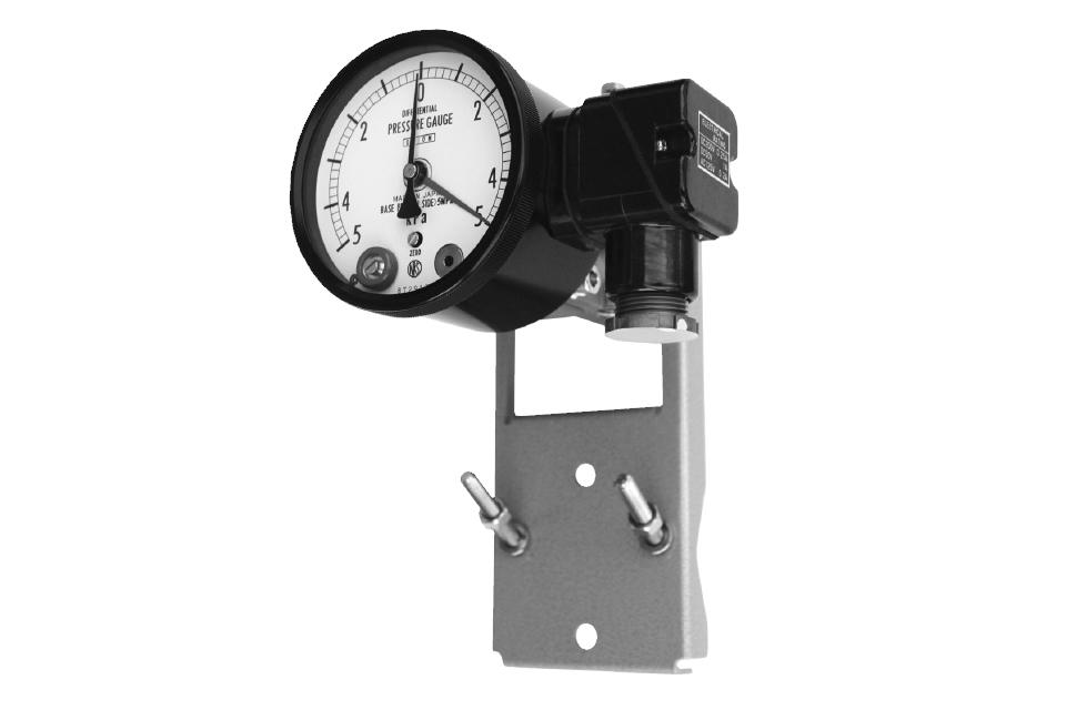 Differential Pressure Gauge With Contact Switch