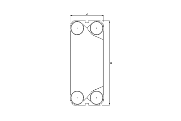 Plate & Gasket Dimension Table