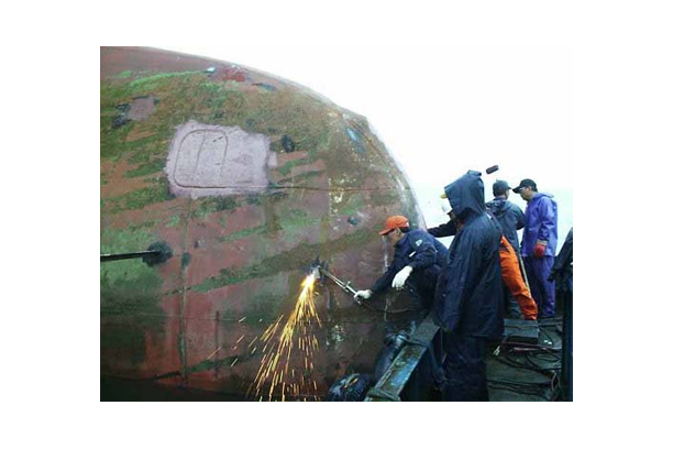 REPAIR OF DAMAGE BULBOUS BOW