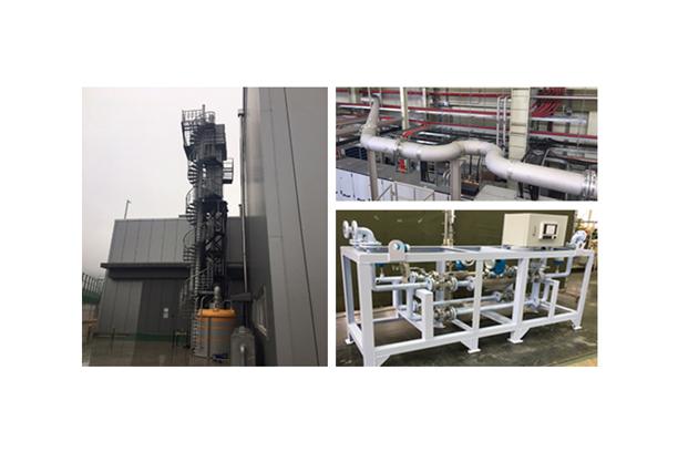 Steam&Oil pipe line