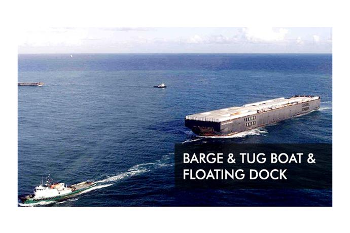 Barge & Tug boat & Floating dock