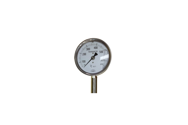 Directly-connected high-temperature thermometer