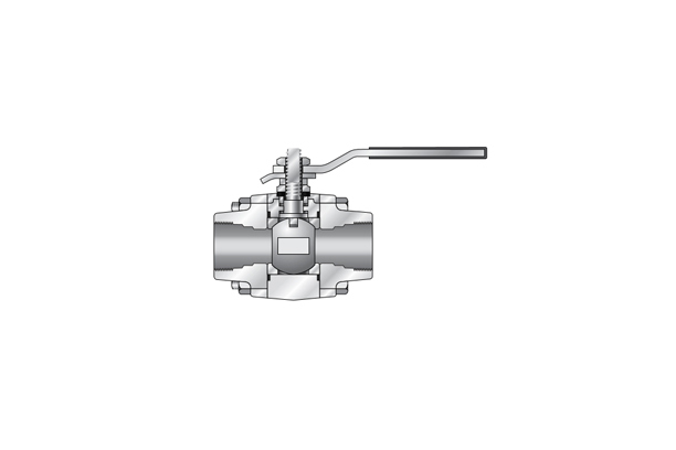 3 Piece Ball Valve _ Forged Steel (Forged Valve)