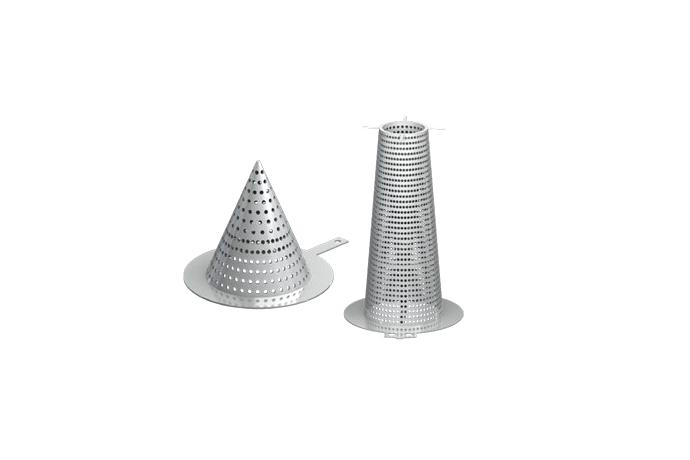 Flat / Conical / Basket / W Type
